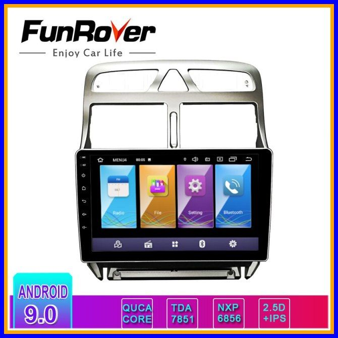 """9 /""""Touchscreen Android 9.0 Auto MP5 Player GPS Bluetooth für Peugeot 307 04-13"""