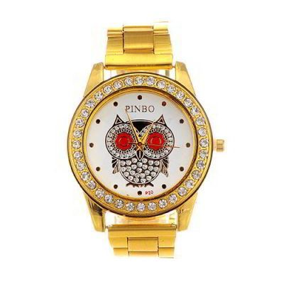 Diamond Owl Pattern Round Case  Gold Color. Fashionable with passion REPIN if you like it.😍 Only 207.5 IDR
