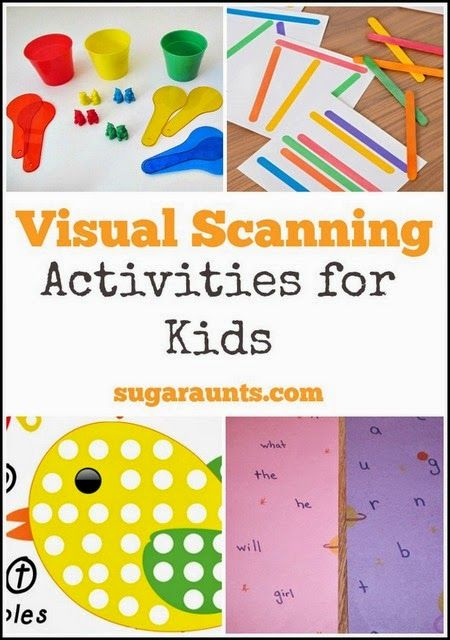 Visual Scanning activities for kids