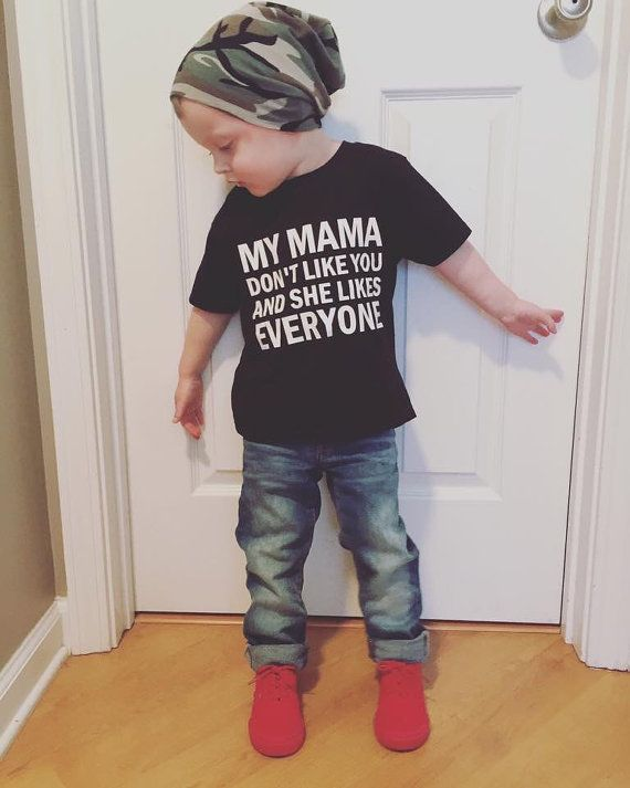 My Mama Don't Like You Toddler Tee Justin by RayneDropsBoutique