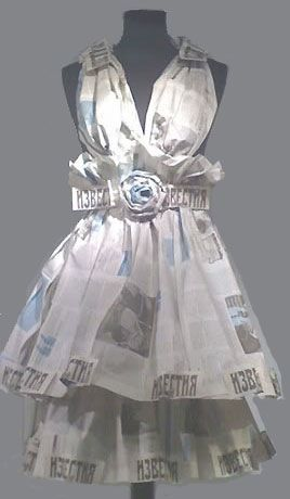 paper dress, photo Charlotte Van