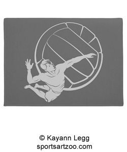 197 best volleyball items images on pinterest grunge style beach volleyball spike doormat by sportsartzoo volleyball male gift negle Images