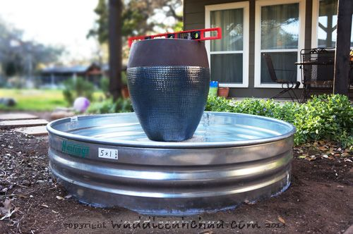 Easy DIY Water Fountain You Can Build in a Weekend from waddleeahchaa.com