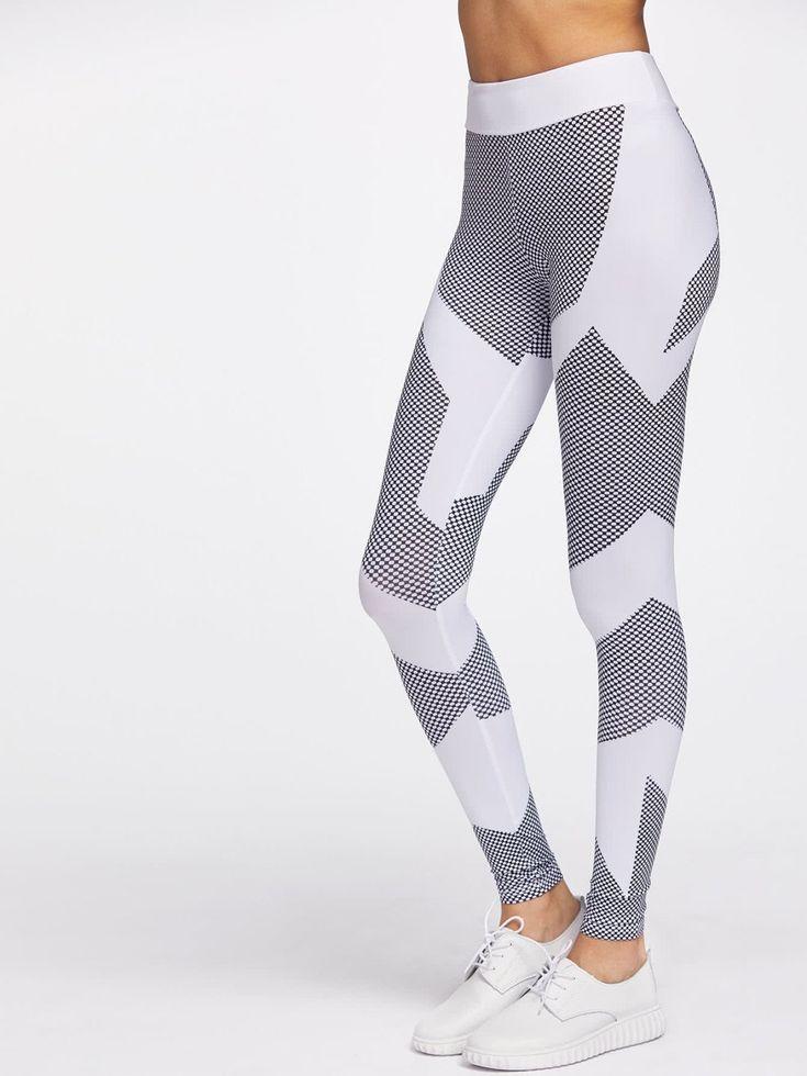 Leggings by BORNTOWEAR. Color Block Honeycomb Pattern Gym Leggings