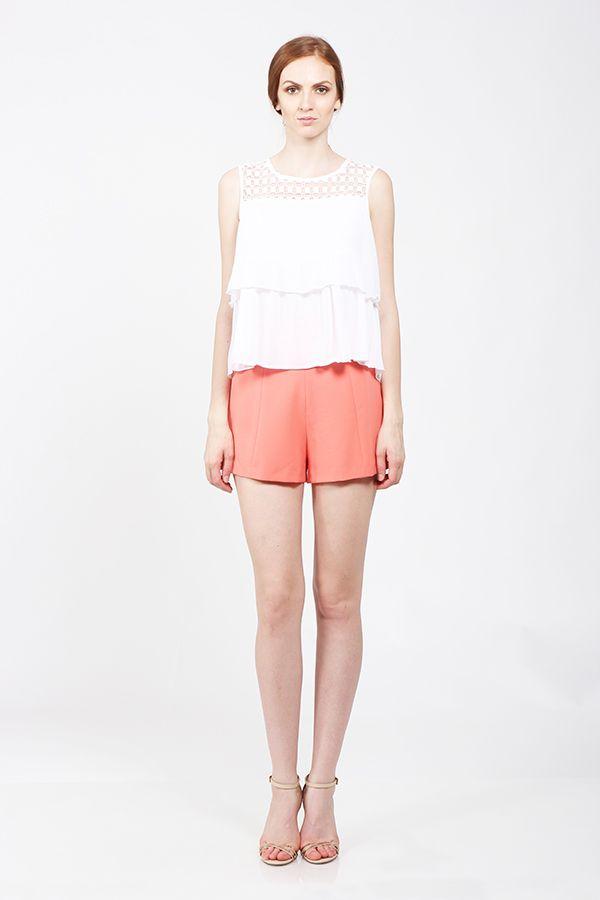 White summer top