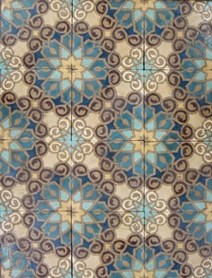 Tile.  This would make an awesome quilt or using the same colors of yarn a beautiful Afgan!