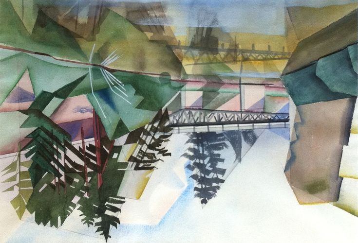 Canadian Modern Art - Bridge Near Portage Le Prairie - Bertram Brooker