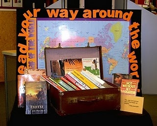 "find old suitcase for ""book basket"" just fun!"