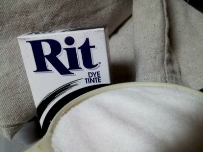 how to dye a canvas drop cloth with rit dye