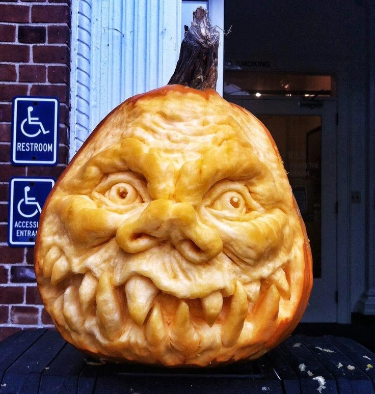 Goblin pumpkin carving holiday halloween jack o lanterns