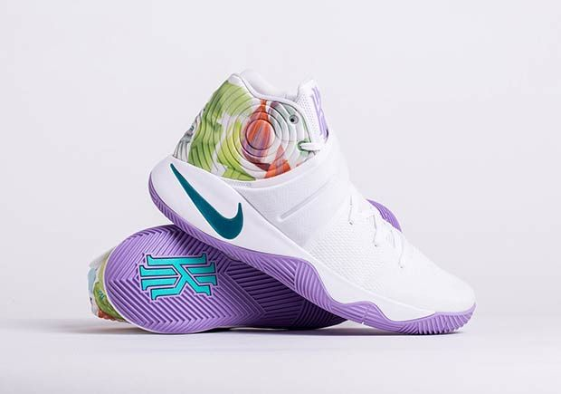 Kyrie Irving's second signature shoe is ready to celebrate Easter this March 25th, 2016 with this special edition colorway featuring a mix of pastel tones on a floral graphic. This Easter sequel from Kyrie achieves a much more refined look, … Continue reading →