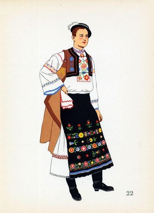 Handsome old attire of Detva, Slovakia.