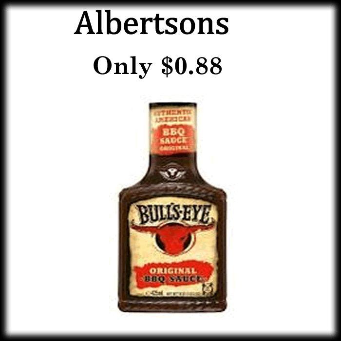 Albertson - Kraft or Bull's Eye BBQ Sauce only $0.88 - http://dealmama.com/2017/07/albertson-kraft-bulls-eye-bbq-sauce-0-88/