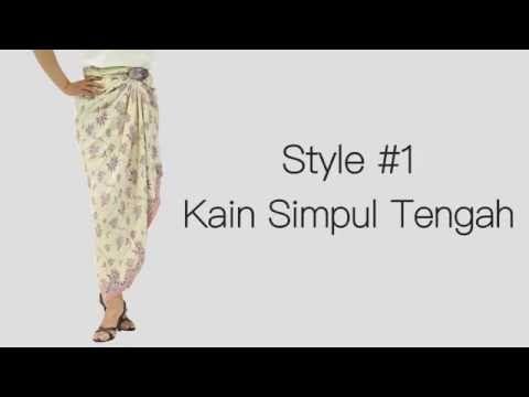 4 Easy Ways To Wear a Kain Batik | GemmaDelicia - YouTube