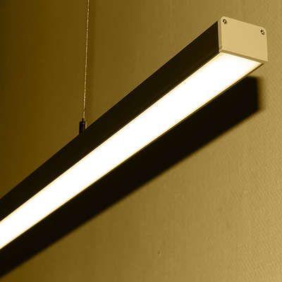 lineare LED-Pendelleuchte opal 24V DC - ab 34cm 9Watt bis 203cm 60Wat