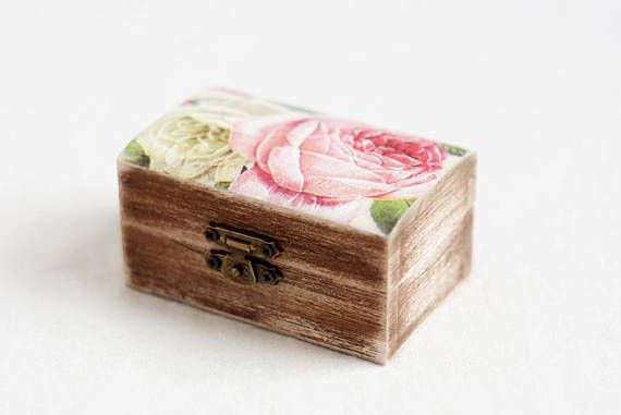 Rustic Wedding Ring Box, Ring Bearer Box, Ring Holder, Ring Box, Ring Box Wedding, Engagement Ring Box, Wooden Ring Box, Roses Ring Box