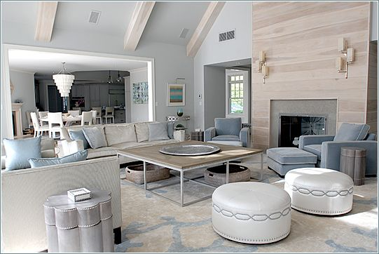 Mabley Handler Interior Design - Design Portfolio: Great Room - St. Mary's Lane, Amagansett