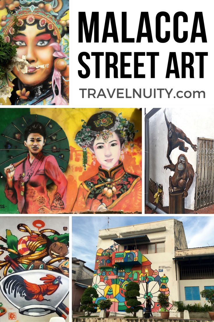 While not as famous for street art as its twin UNESCO-listed historic city of George Town, Malacca is bursting with street art along its river and laneways.