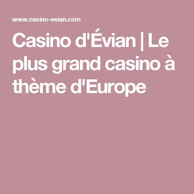 Casino d'Évian | Le plus grand casino à thème d'Europe