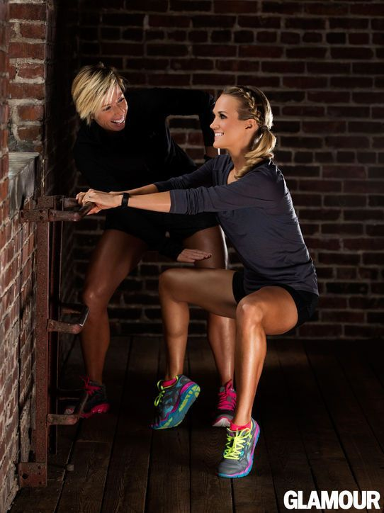 Carrie Underwood (leg work) We have the same tennis shoes. Further proof that we are destined to me BFF