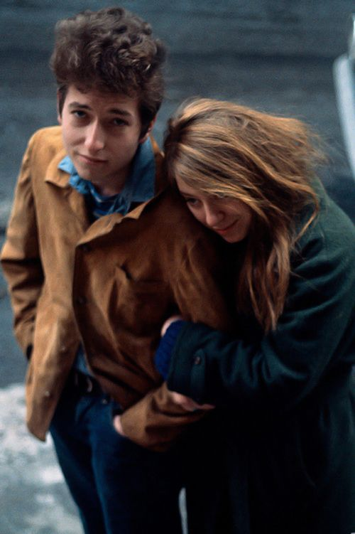 Bob Dylan and then girlfriend Suze Rotolo -- 1963