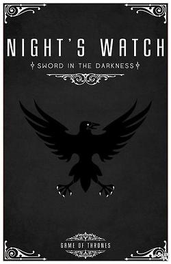 Night's Watch poster - Game of Thrones birthday party decorations.