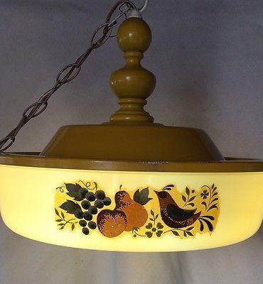 Vintage Sears & Roebuck Light Fixture Fluorescent Bulb Kitchen Decor