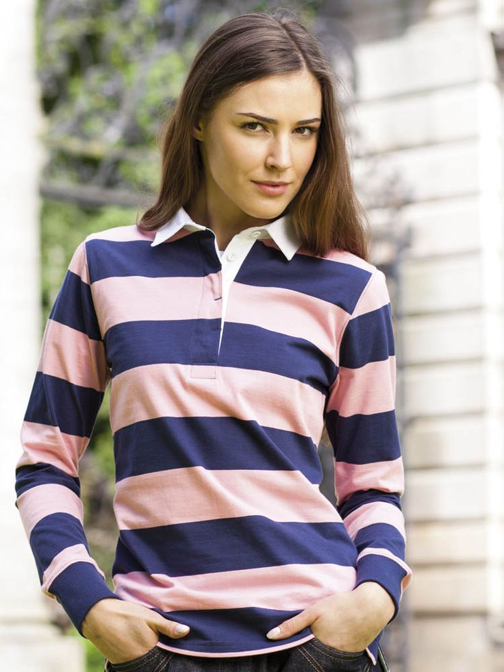 Best 25 women 39 s rugby shirts ideas on pinterest women 39 s for Pink and purple striped rugby shirt