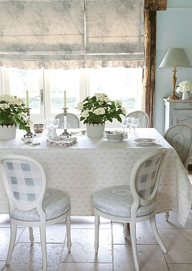 cute breakfast room, love the colors and all the different patters...