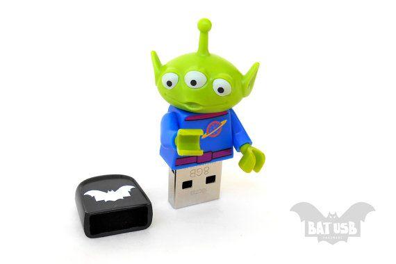 Lego Disney Toy Story Alien usb 8/16/32/64GB  Memory by BatLab