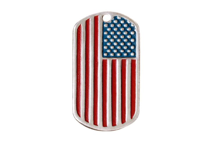 DOG TAG STARS AND STRIPES  #dogtag #dogtags #amulet #charm #embossing #joss #mascot #military #usa #america #stripes