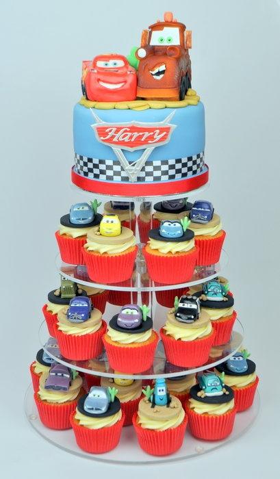 Disney Cars Cupcake Tower  By SuzieB CakesDecorcom Cake