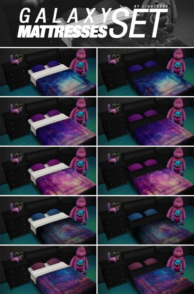 GALAXY MATTRESSES SET at Lightsxxx via Sims 4 Updates Check more at http://sims4updates.net/furniture/galaxy-mattresses-set-at-lightsxxx/