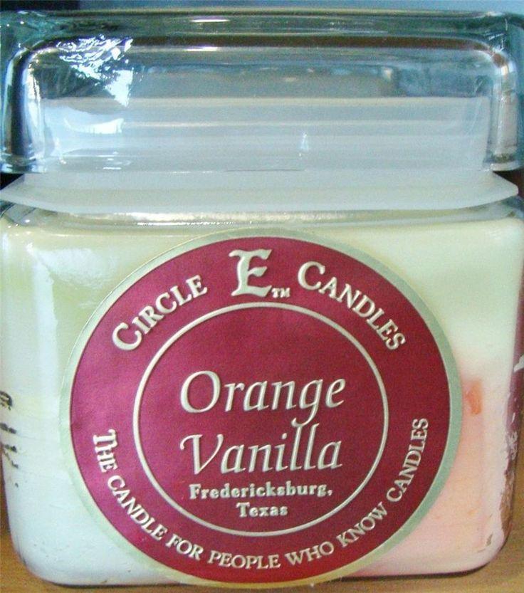 NEW CIRCLE E CANDLE ORANGE VANILLA 28 oz JAR 165 HOUR BURN TIME #CIRCLEECANDLES