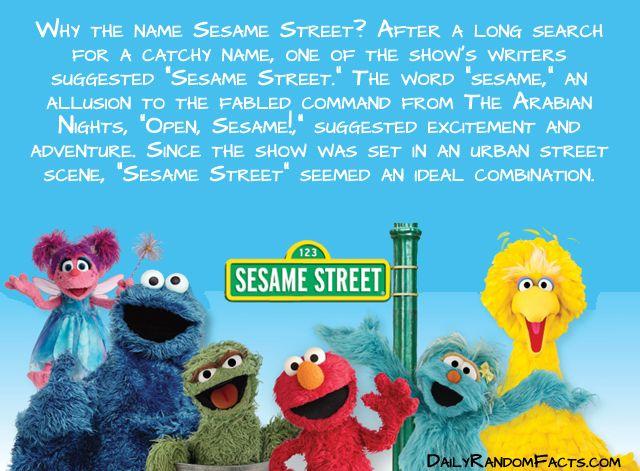 Seasame Street Facts