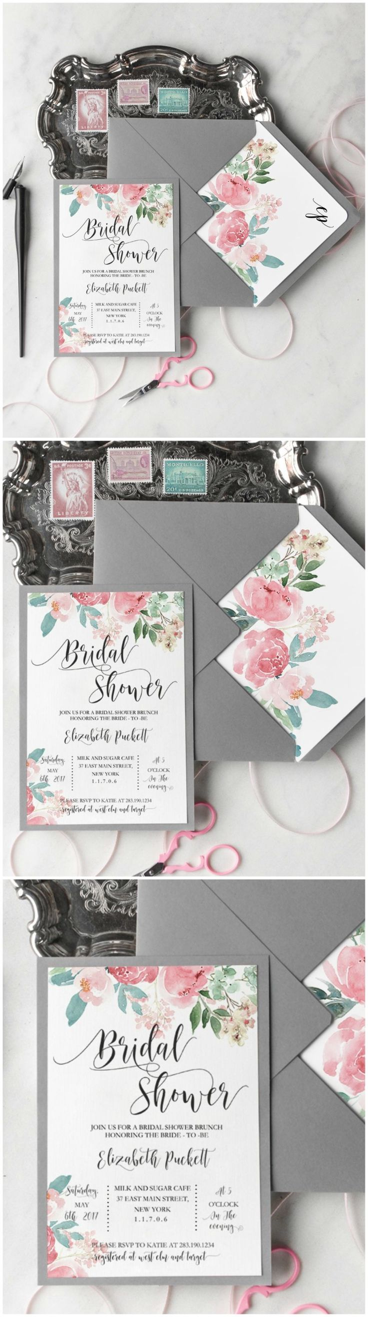 pink black and white bridal shower invitations%0A Invite your best friends for a bridal shower by giving them lovely invites