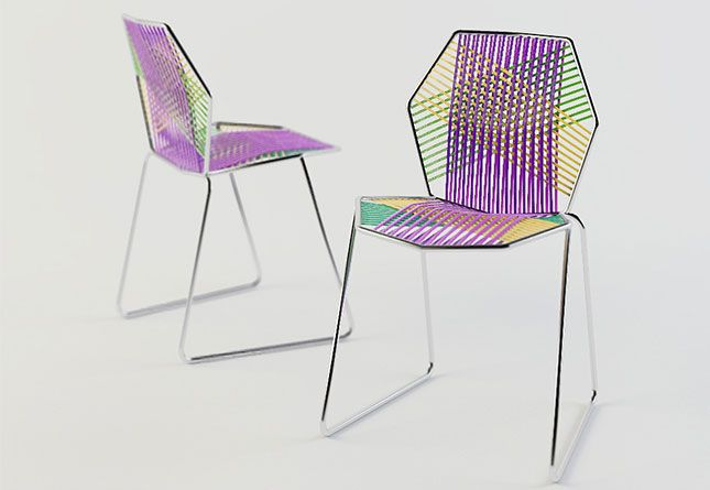 Tropicalia is a collection which comprises an armchair, a chair, a chaise longue, an outdoor day-bed and aswinging nest  (cocoon). The geometric frame of faceted steel tubing is covered with a skilful composition of plaiting, alternating     solids a...