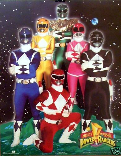 The Mighty Morphin Power Rangers Cast Poster