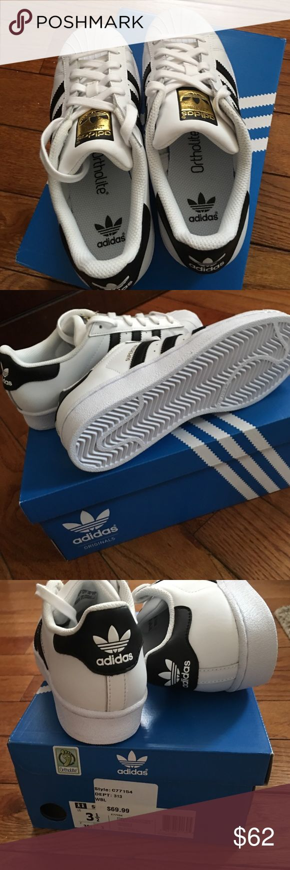 new style 284f5 68fa2 ... coupon code for brand new adidas superstar sneakers nwt 35a80 86877