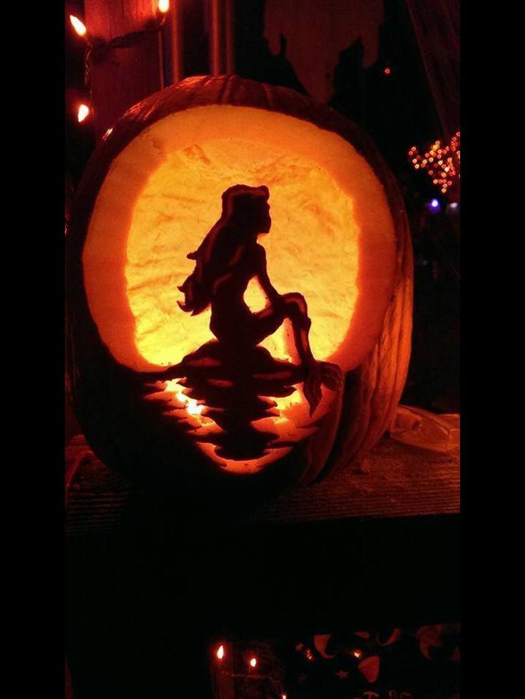 The Little Mermaid Pumpkin Carving Food Art N Stuff