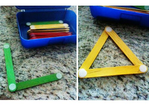 Toddler Busy Bag Ideas: Geometry lesson.
