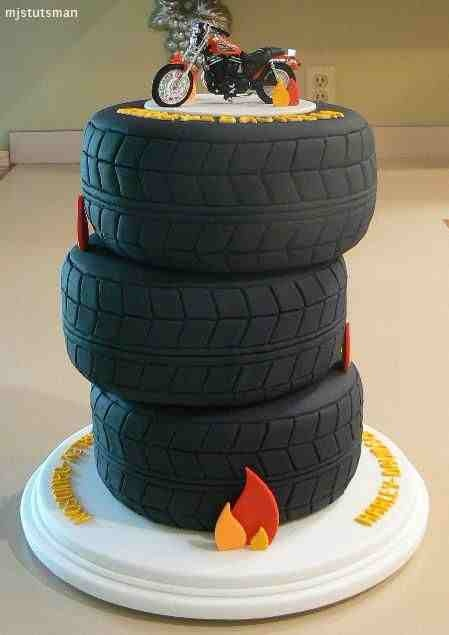 Tire Grooms Cake Put A 4 Wheeler On Top Instead Of