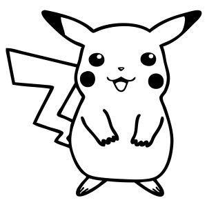 Pikachu Pokemon Anime Decal Sticker by Stickerbus on Etsy