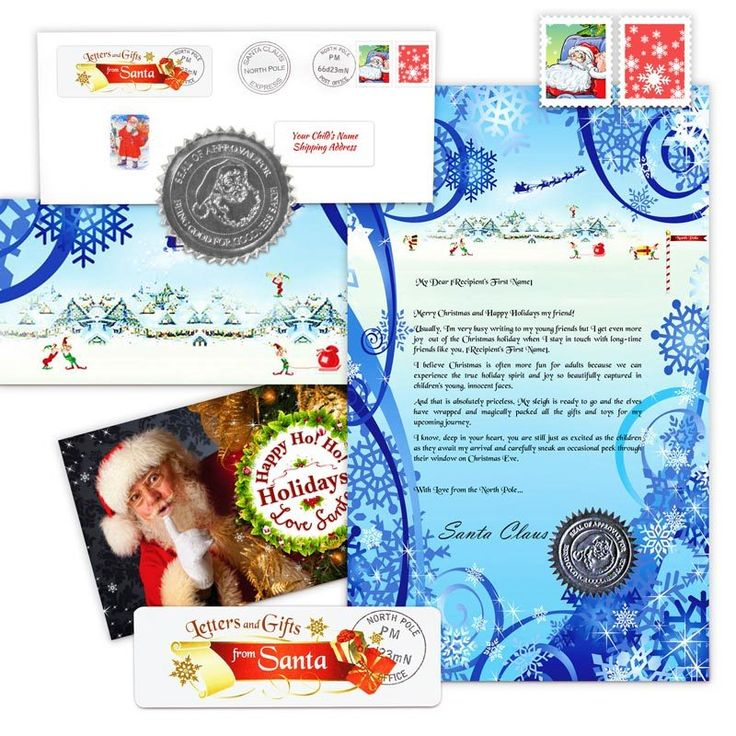 Letters from Santa - Snowman letter  package with a Santa photo.