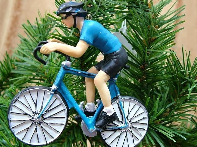 Blue Mountian Bike Racing Cyclist Bicycle Bicycling Sport Christmas Ornament #gallerieII