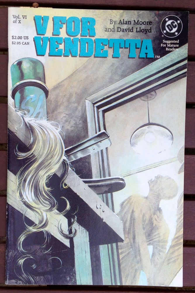 V FOR VENDETTA #6 1989 DC COMICS ALAN MOORE DAVID LLOYD NEAR MINT CONDITION