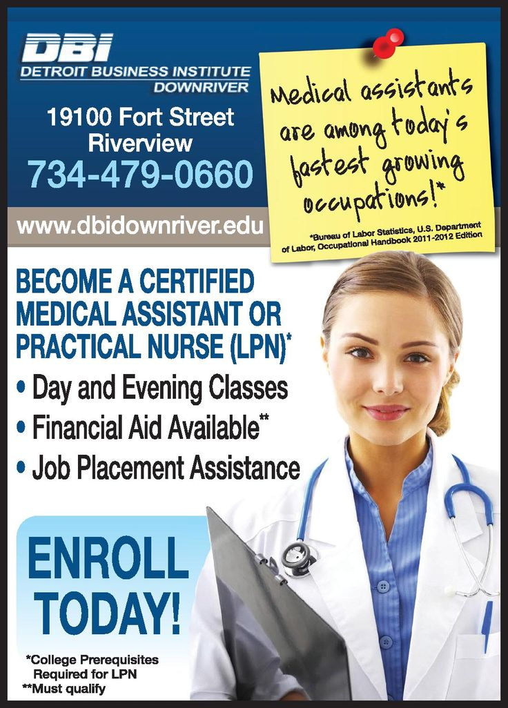 LPN training in 45 weeks at DBI_Downriver in Riverview, MI.
