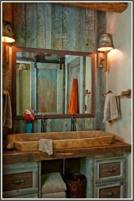 I want this bathroom!! But maybe a washtub sink?..hmm..
