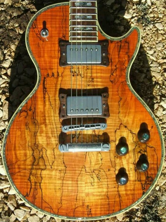 Les Paul With A Spalted Maple Top