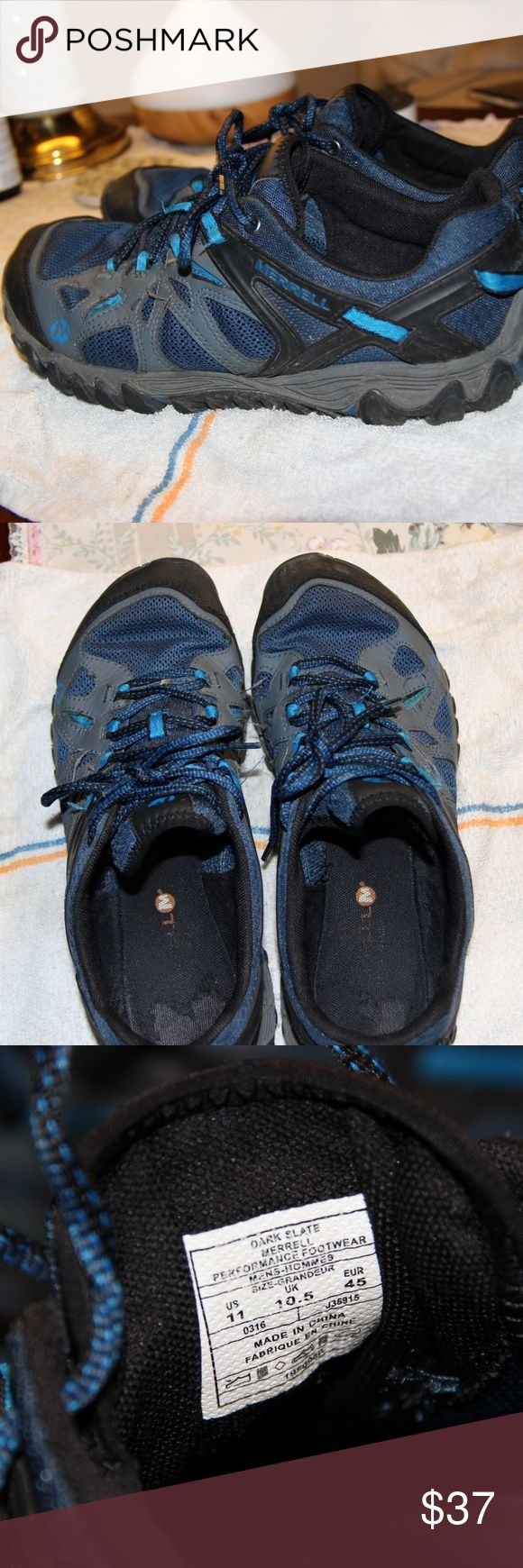 Merrell Shoes. Blue Men's Merrell Shoes. Used, but have alot of life left. Merrell Shoes Athletic Shoes